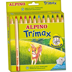 LAPICES ALPINO TRIANGULARES TRIMAX ESTUCHE 12 UDS. (AL00113)