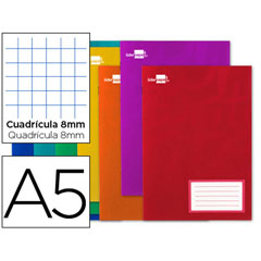 Material LIBRETA LIDERPAPEL WRITE A5 32 HOJAS 60G/M2CUADRO 8MM CON MARGEN