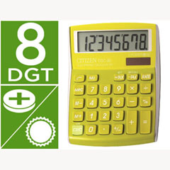 Material CALCULADORA CITIZEN SOBREMESA CDC-80 8 DIGITOS VERDE SERIE WOW