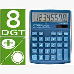 Material CALCULADORA CITIZEN SOBREMESA CDC-80 8 DIGITOS CELESTE SERIE WOW