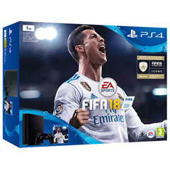 PS4 Consola Slim 1TB + FIFA 18 + PS Plus 14 Días