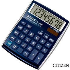 Material CALCULADORA CITIZEN CDC-80 8 DIGITOS AZUL (45300)
