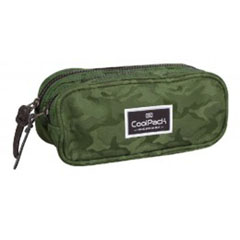 Material ESTUCHE DOBLE CLEVER JAQUARD ARMY GREEN 713