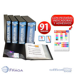 CARPETA OFFICE BOX 60 FUNDAS A4 SUPRA PORTADA PERSONALIZADA COLORES SURTIDOS (19615)