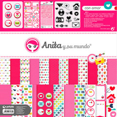 KIT SCRAP2 COLECCION CON AMOR C/MALETIN GRAFOPLAS REF.37010712 Productos originales baratos Scrapbooking