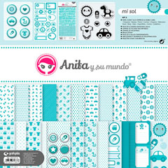 KIT SCRAP2 COLECCION MI SOL C/MALETIN GRAFOPLAS REF.37010710 Productos originales baratos Scrapbooking