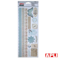 B SET SCRAP DE ADHESIVOS NATURE 15UND APLI (13727) Productos originales baratos Scrapbooking
