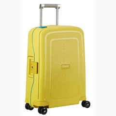 Material S´CURE SPINNER SAMSONITE 4 RUEDAS COLOR AMARILLO