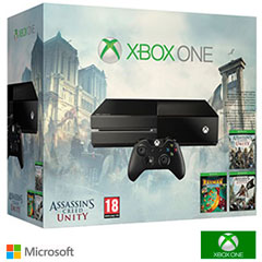 CONSOLA XBOX ONE 500GB AC UNITY + ASSASSIN´S CREED BLACK FLAG + RAY Material barato online al Mejor Precio.
